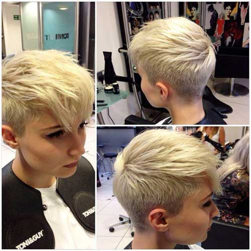 Pixie-Cut-Faux-Hawk Best Short Layered Haircuts for Women
