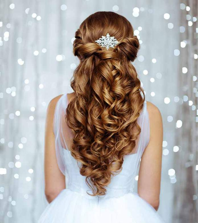 Princess-Hair-with-Big-Curls 21 Bridal Hairstyles 2020 for an Elegant Look