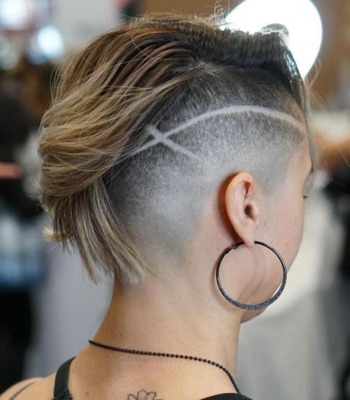 Shaved-Undercut-Bob 15 Stylish, Modern Undercut Bob Haircut in 2020
