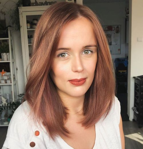 Simple-Off-Centre-Part 14 Haircuts for Big Foreheads to Inspire Your Next Cut