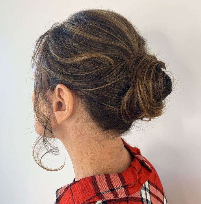 Soft-Bun-for-Your-Daughters-or-Sons-Wedding. 15 Beautiful Hairstyles for Mother of The Bride That's Easy To Put Together