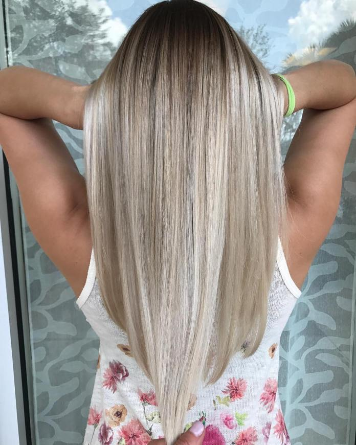 Straight-Blonde-Hair 21 Hair Color Trends 2020 to Glam Up Your Tresses