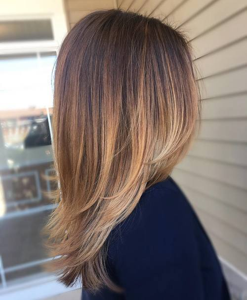 Strawberry-Blonde-Ombre-with-Layers 14 Best Bronde Hair Options in 2020