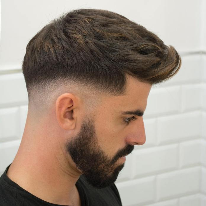 Texture-Drop-Fade-Cut Drop Fade Haircut for an Ultimate Stylish Look