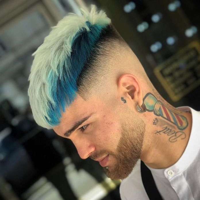 The-Combination-of-White-and-Blue-Color 20 Hair Color for Men to Look Ultra Stylish