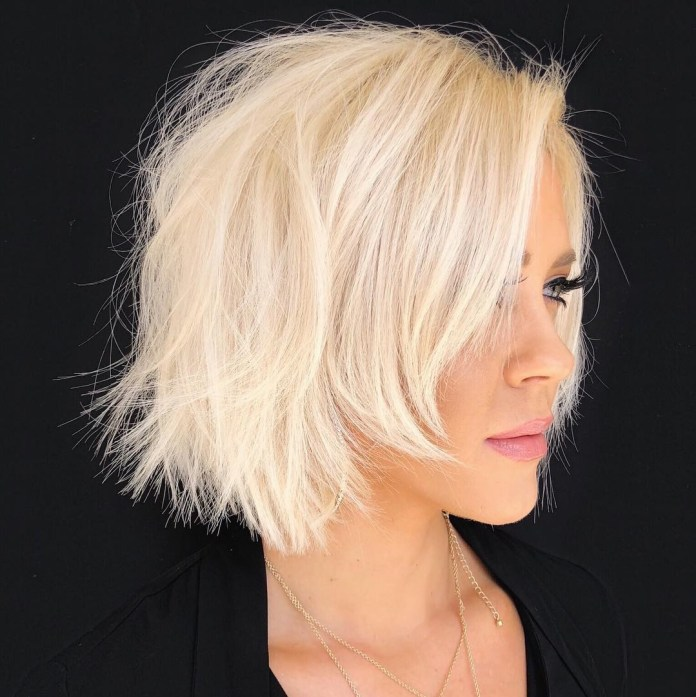 Uneven-Bob-Cut 20 Short Layered Hairstyles to Look Beautiful