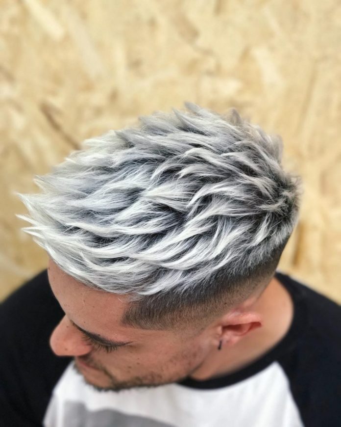 White-Color-Men's-Hairstyle 20 Hair Color for Men to Look Ultra Stylish
