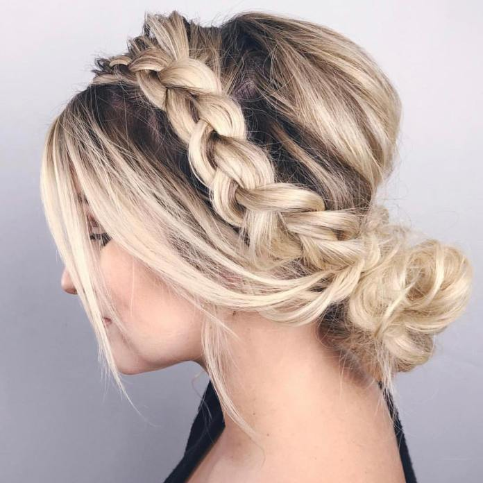 braided-hairstyle 20 Eye-catching Updo Hairstyles To Make Your Day