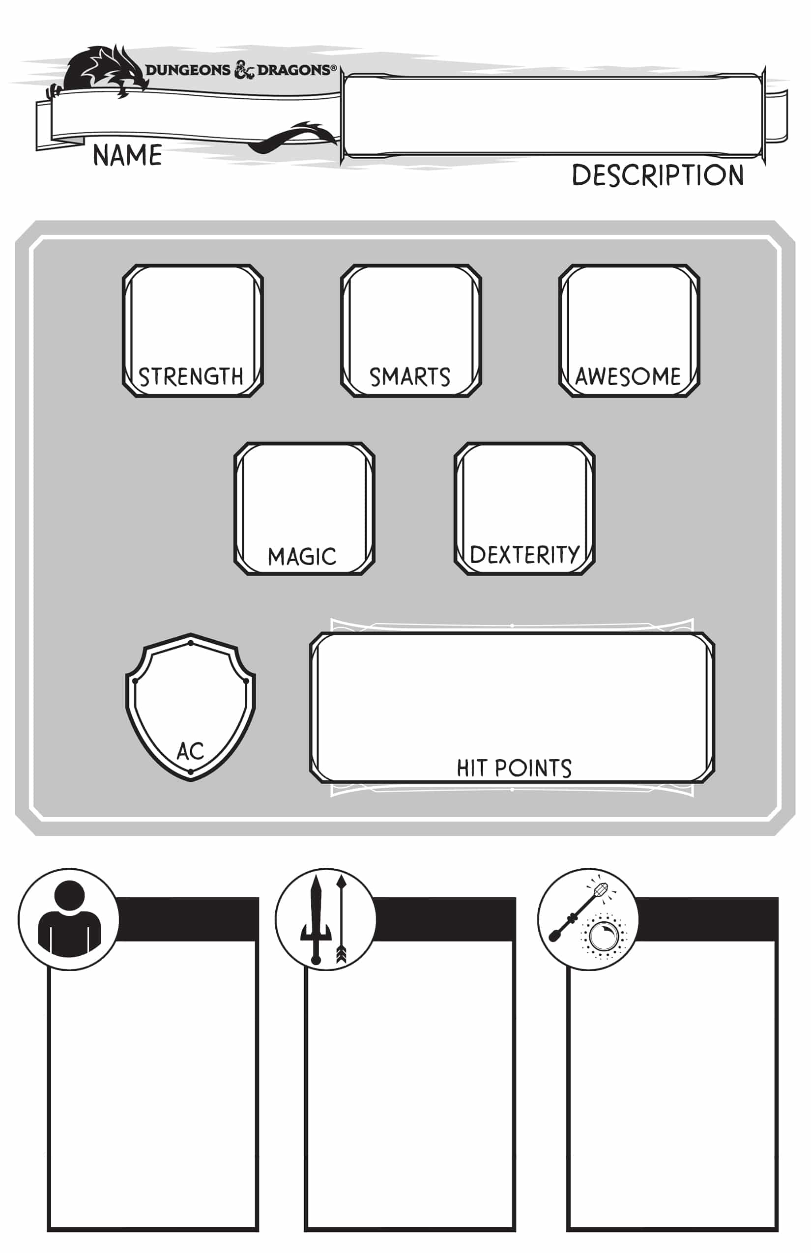 Simplified Dungeons And Dragons For Young Kids