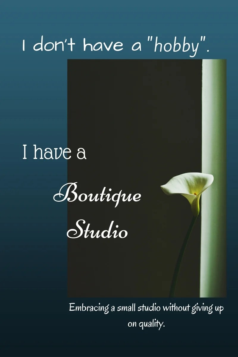 I have a boutique studio