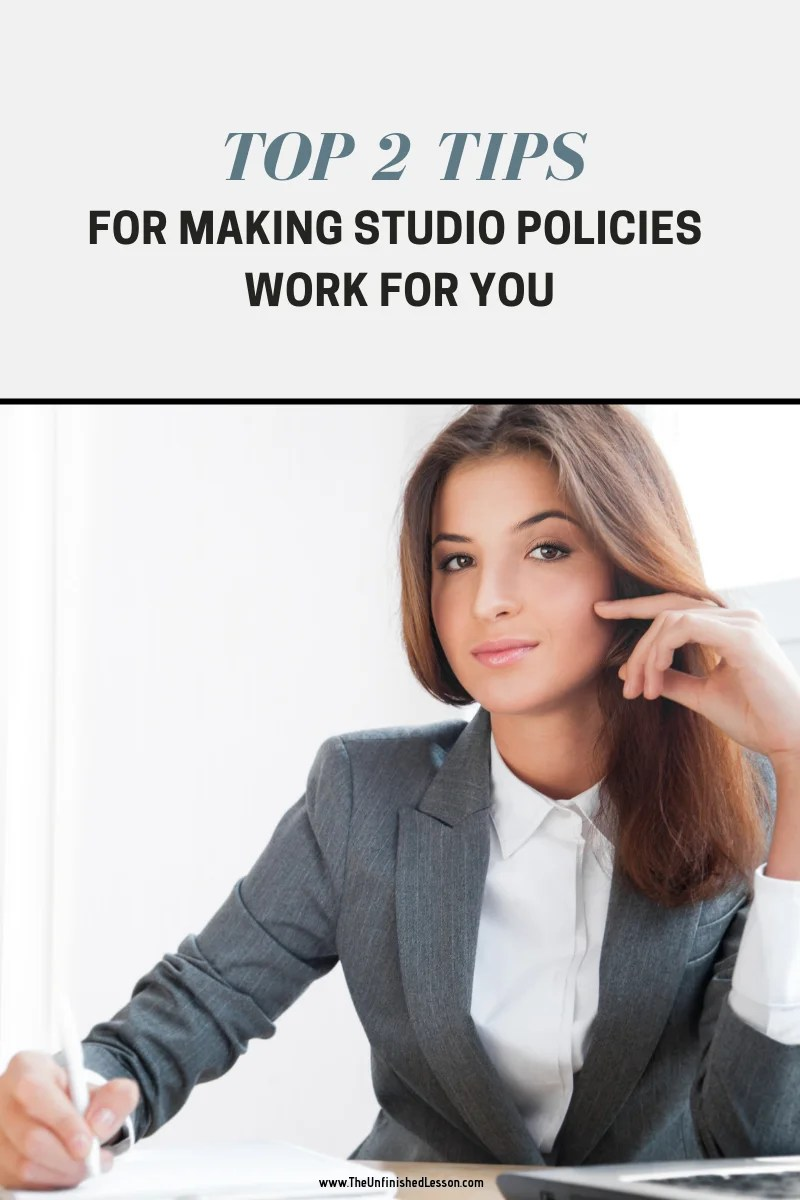 Making Studio Policies Work for You