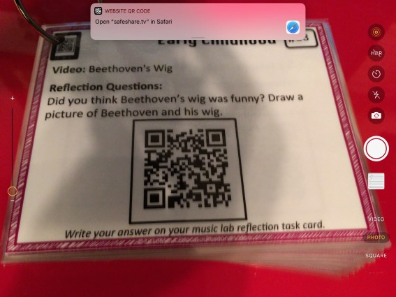 Using camera to read QR codes