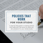create studio policies that work