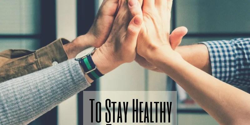 healthy schedule & routine