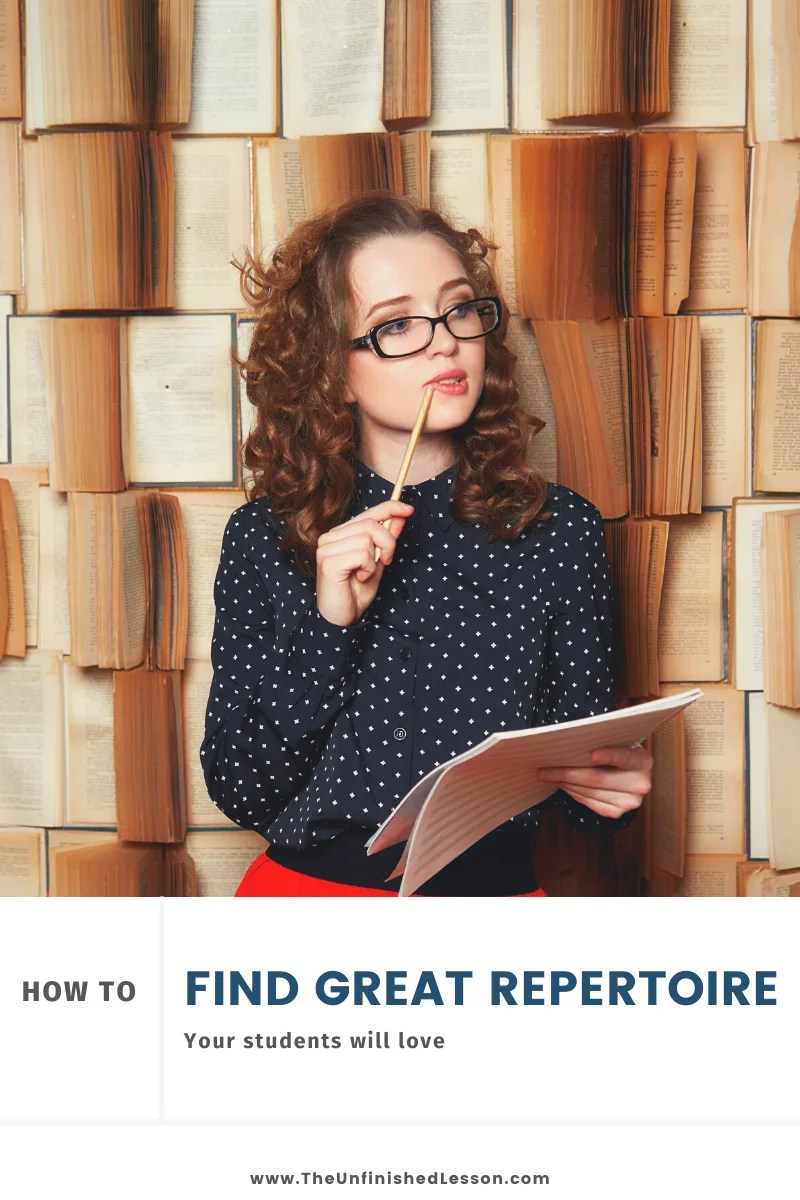 How to Find Great Repertoire Your Students Love