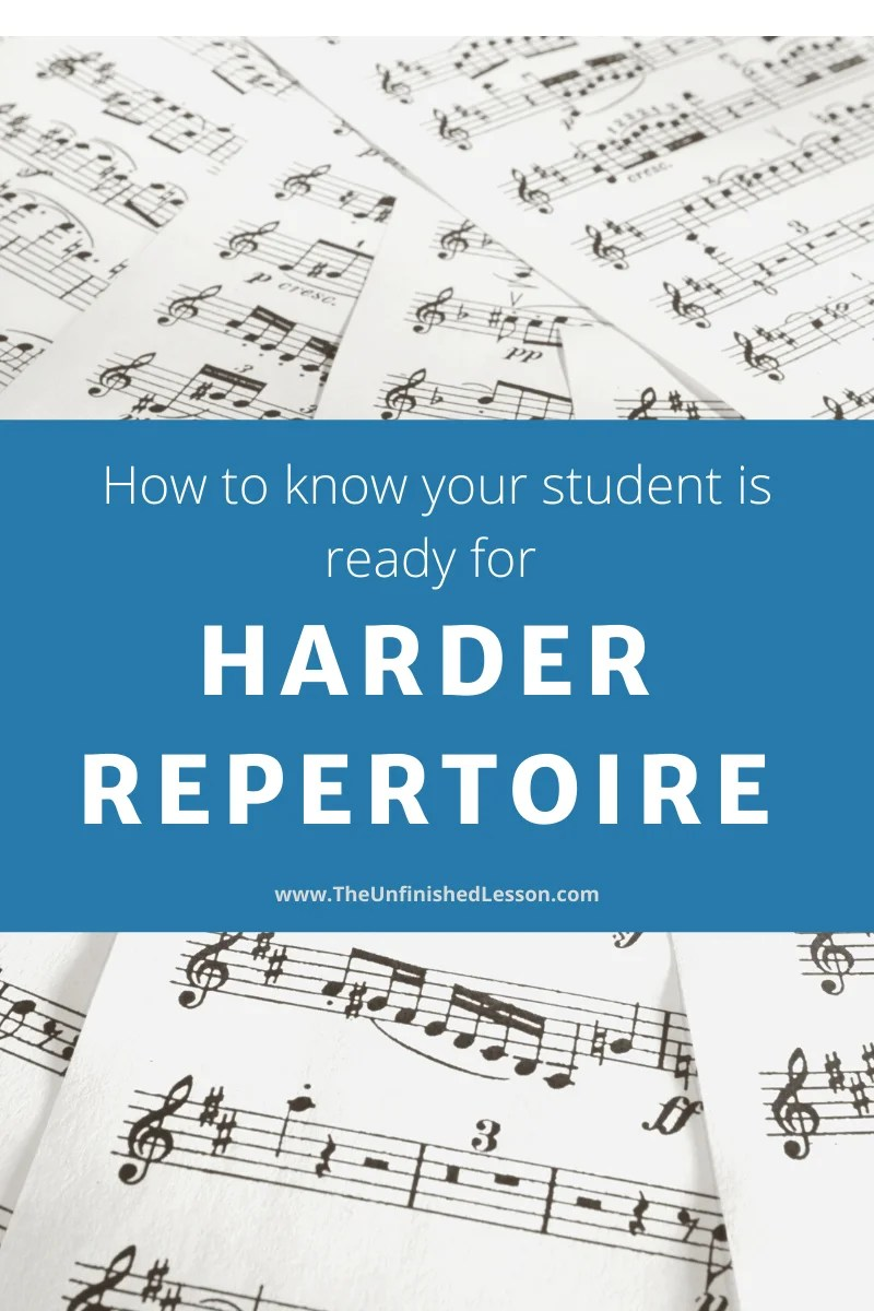 Is your student ready for harder repertoire?