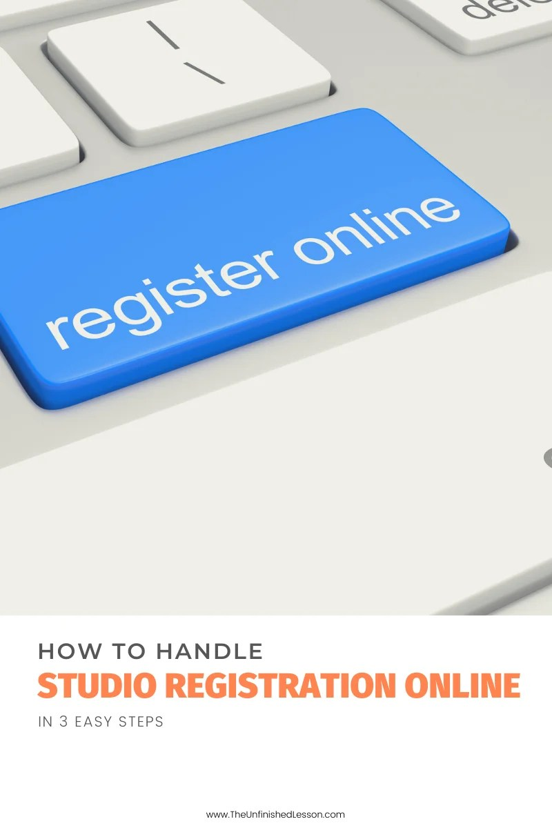 How to Handle Studio Registration Online