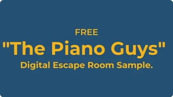 FREE Digital Escape Room music resource sample.