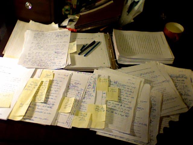 Meet the Larssons manuscript, Jan. 15, 2009