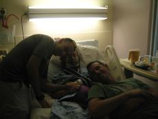 Paul, Gina and John (I have no memory of this or the 1st two weeks in hospital)