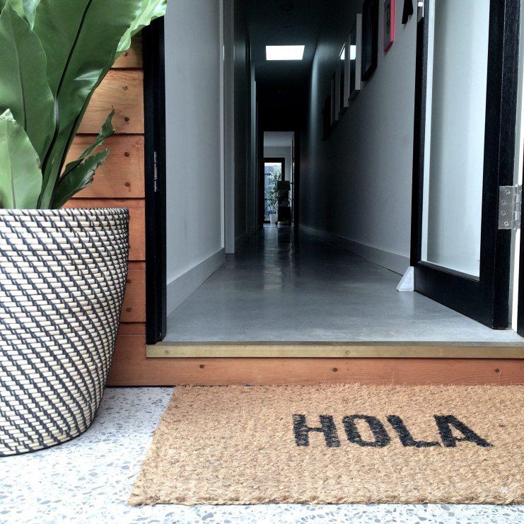 DIY concrete doorstop