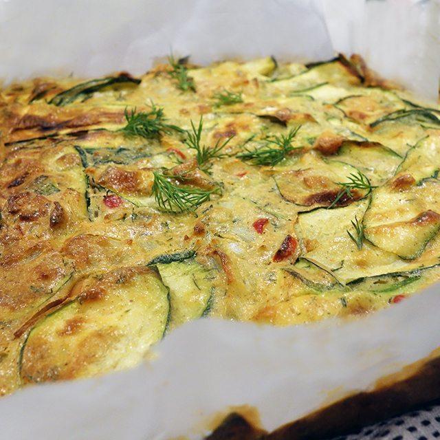 gluten free diary free zuchinni slice
