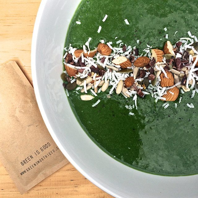 green smoothie bowl green is good green smoothie company 1