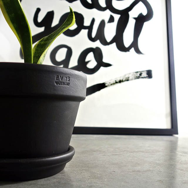oh the places you'll go print DIY pot & scott style large garden pot