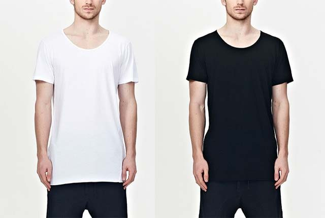 Commoners White & Black Basic Tee