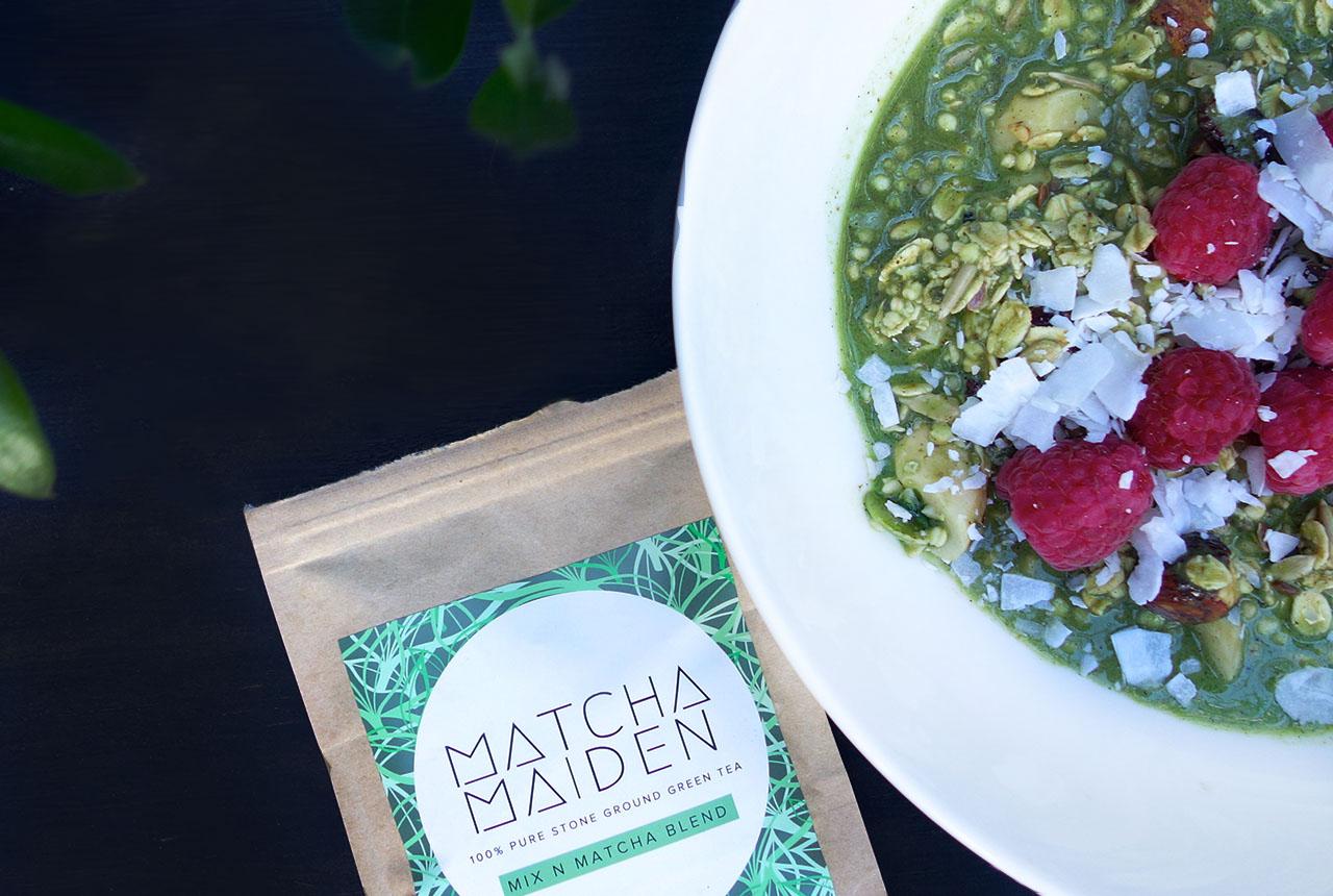 matcha maiden raw super food muesli vegan nut milk wholefoods