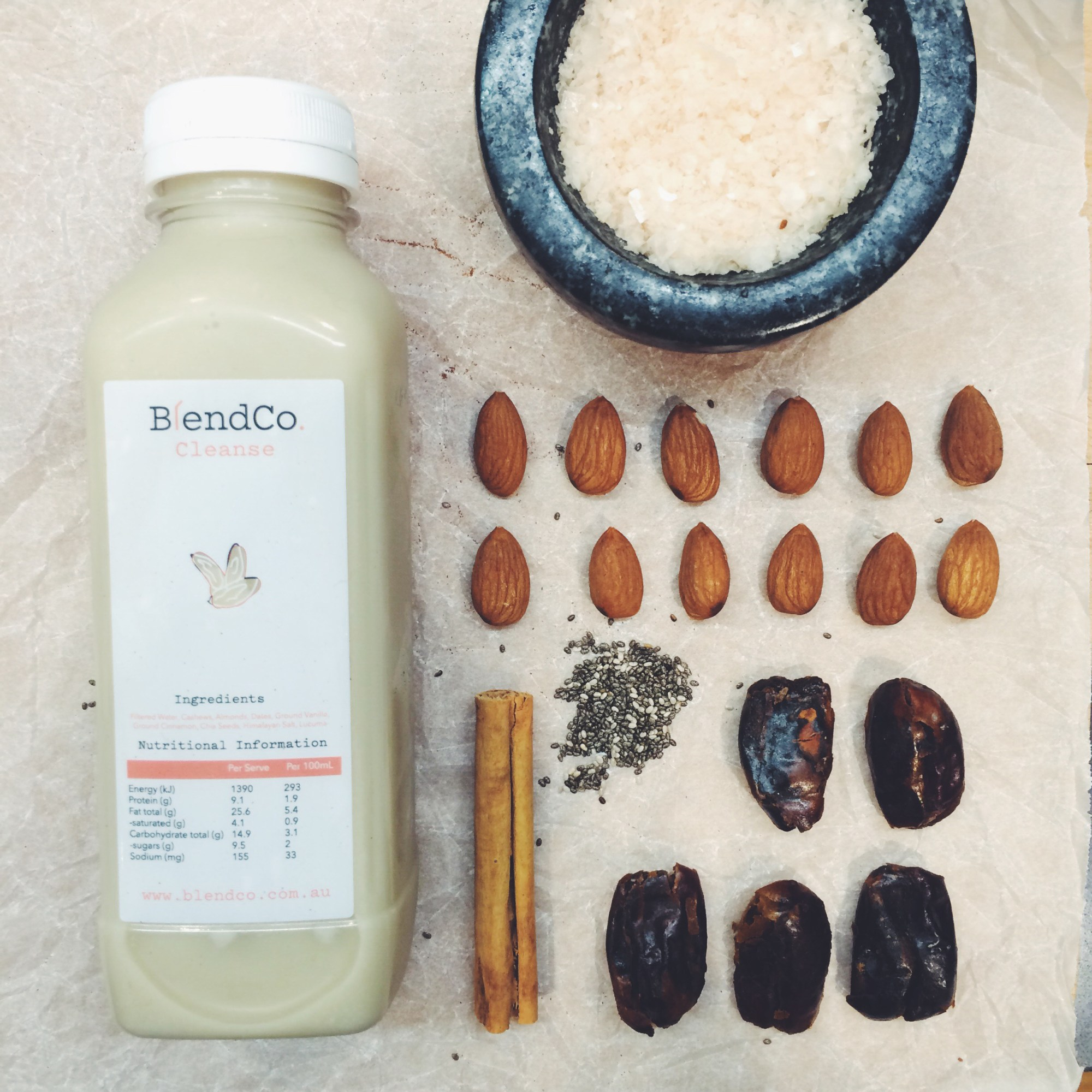 blendco cold pressed 3 day detox juice cleanse melbourne spiced almond