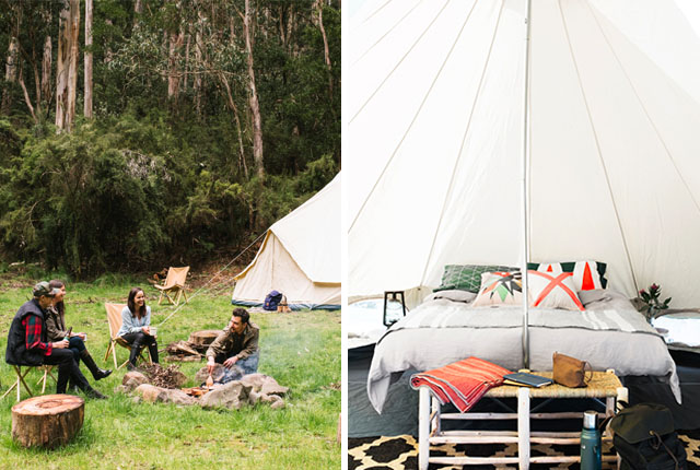 Stephanie Francis Homecamp hipster camping glamping bell tent