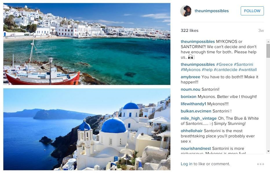 the unimpossibles post where to go in greece santorini or mykonos