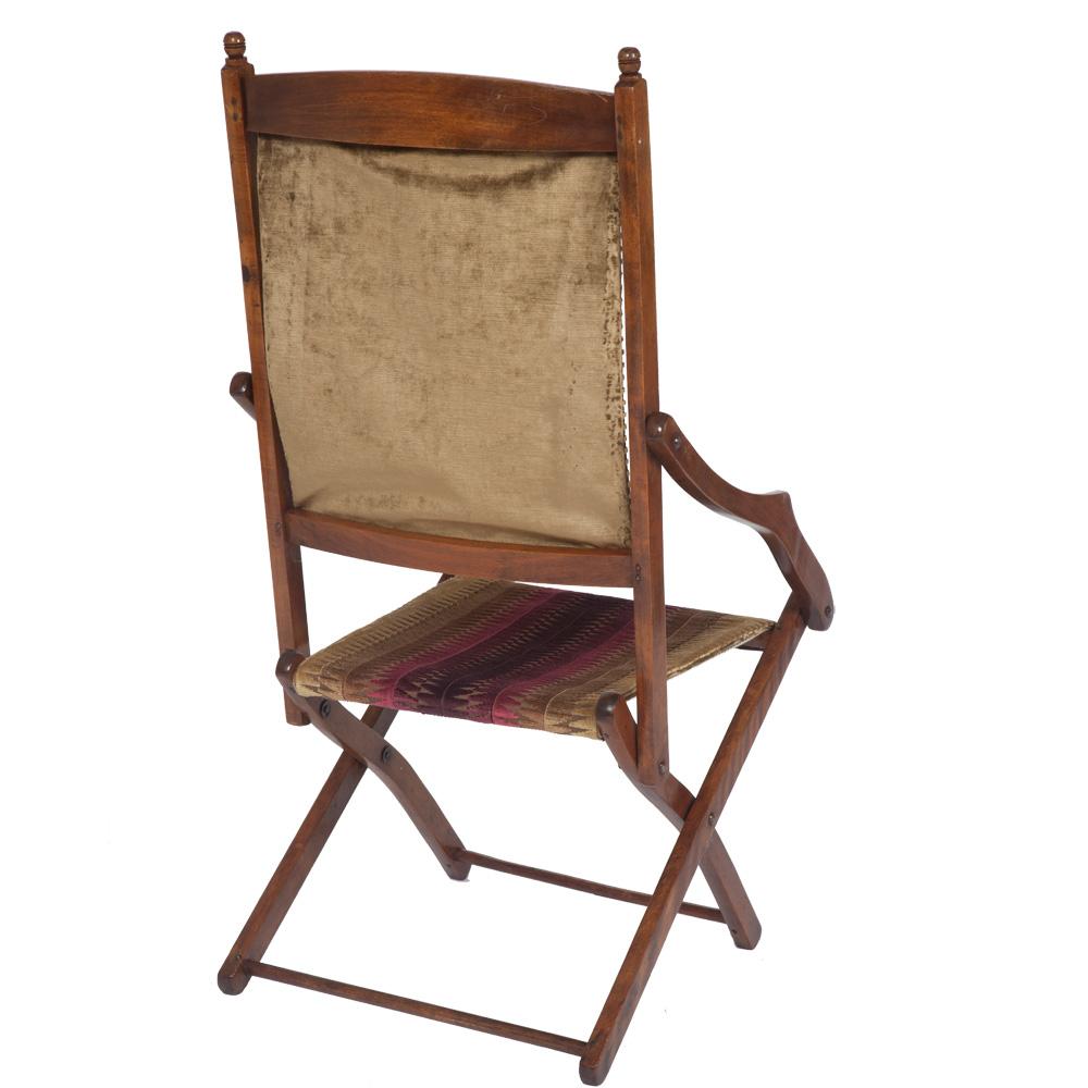 Stylish Edwardian Folding Campaign Chair  The Unique Seat