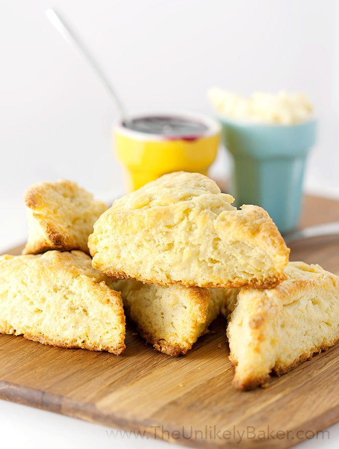Classic Buttermilk Scones - The Unlikely Baker
