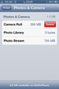 iOS 6 Delete Photos