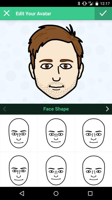 Bitmoji Face Shape