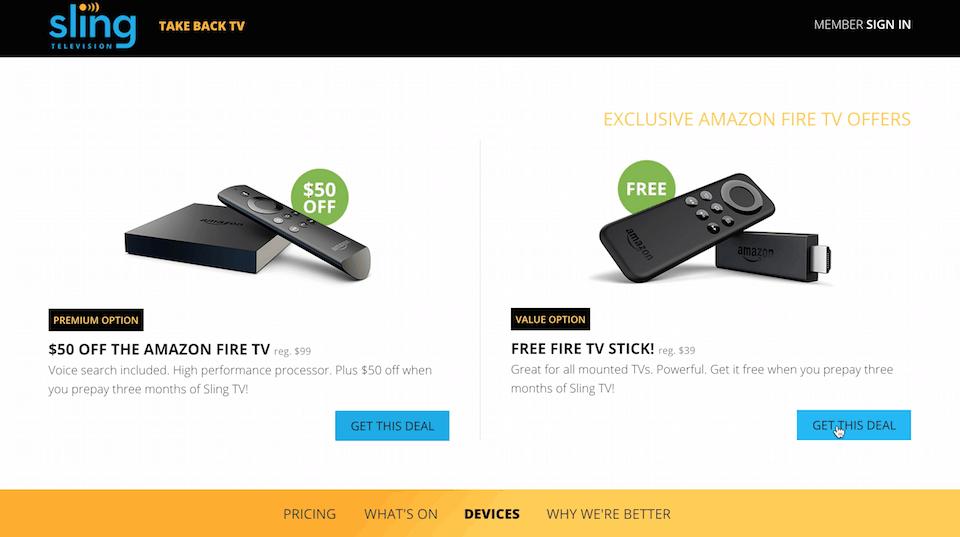 Sling TV Fire Stick Deal