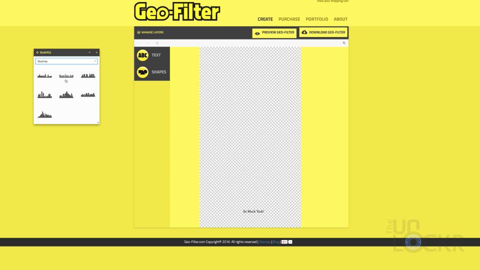Geofilter Self Service