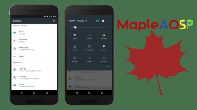 MapleAOSP v1.1 ROM