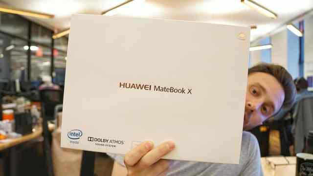 Huawei Matebook X Unboxing