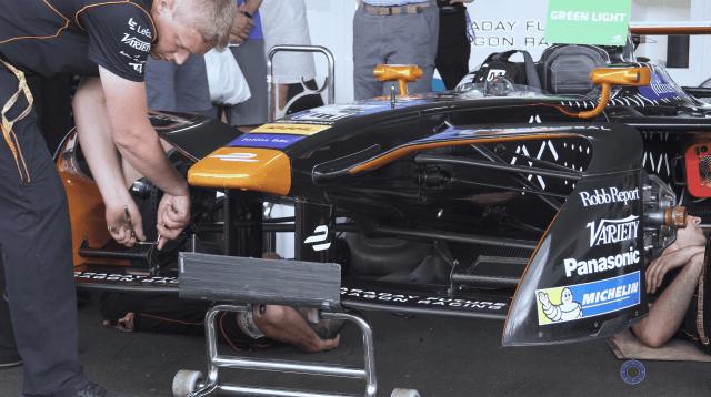 Working on Formula E Car