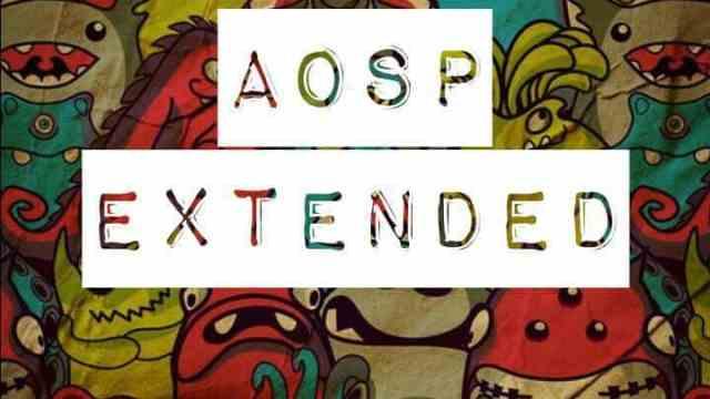 AOSPExtended ROM