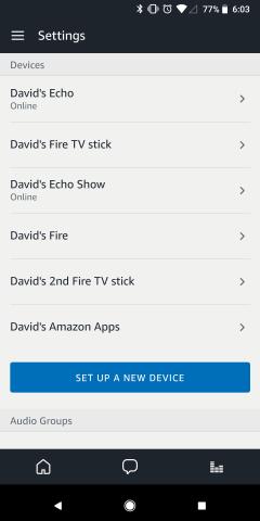Choose Echo Device
