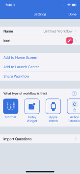 Edit the Workflow Name and Icon