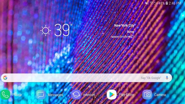 Samsung Experience Landscape Home Screen