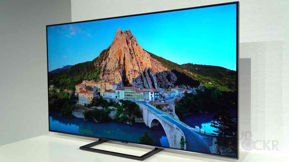 Samsung QLED TV on Stand