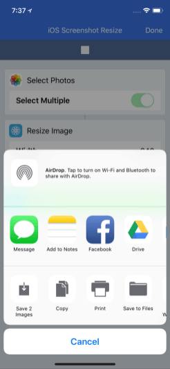 Share to Drive in Running Workflow
