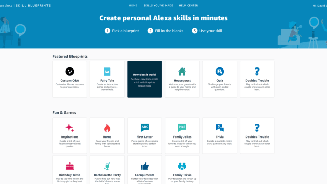 Alexa Blueprints Home Page