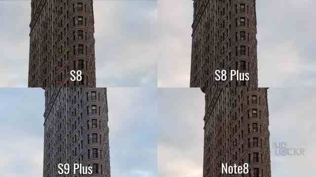 Camera Comparison Galaxy S9 Plus vs Note8 vs S8 Plus vs S8